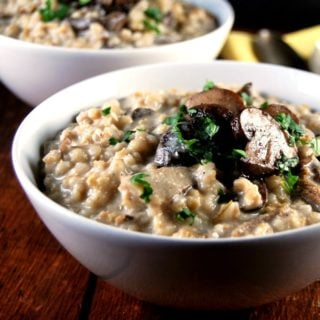 Mushroom Barley Risotto in a Pressure Cooker