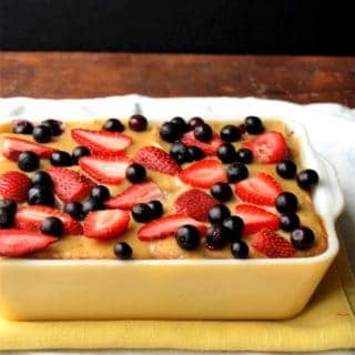 Vegan PB&J Bread Pudding