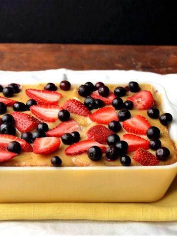 Vegan PB&J Bread Pudding