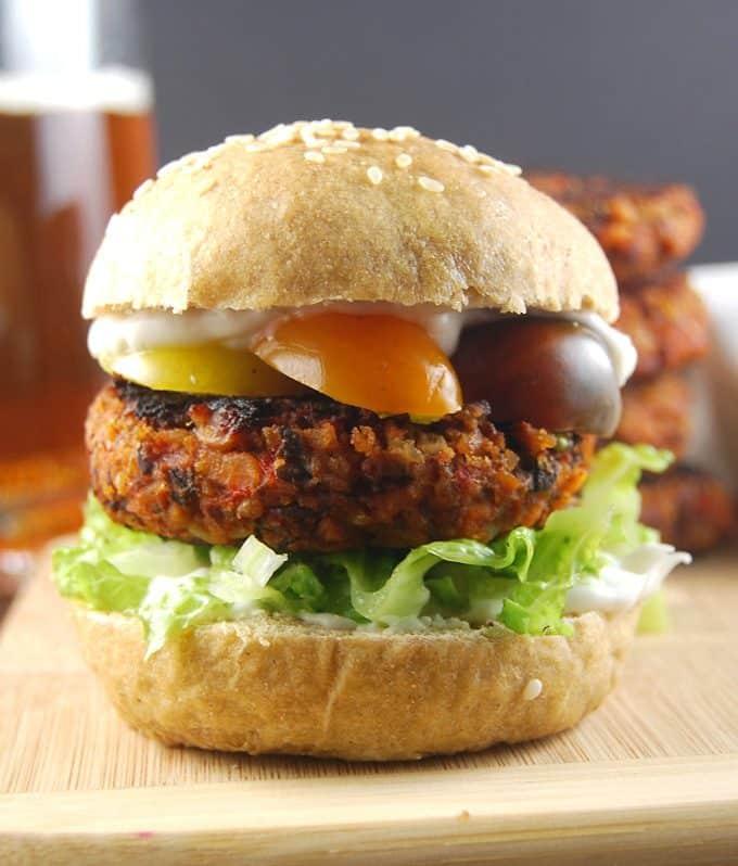 Grillable Veggie Burger