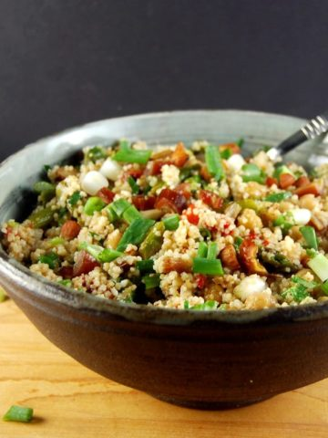 Moroccan Couscous Salad with Spring Vegetables