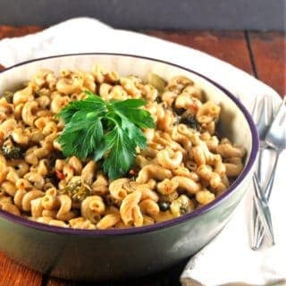 Pressure Cooker Pasta with Sundried Tomato Pesto