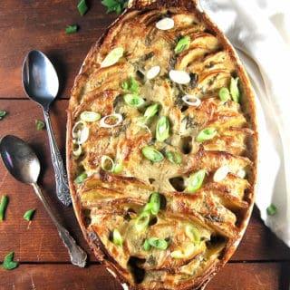 Vegan Scalloped Hasselback Potatoes