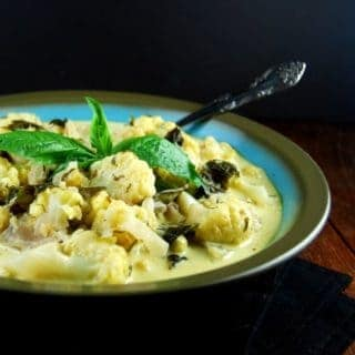 Creamy Cauliflower Curry with Basil