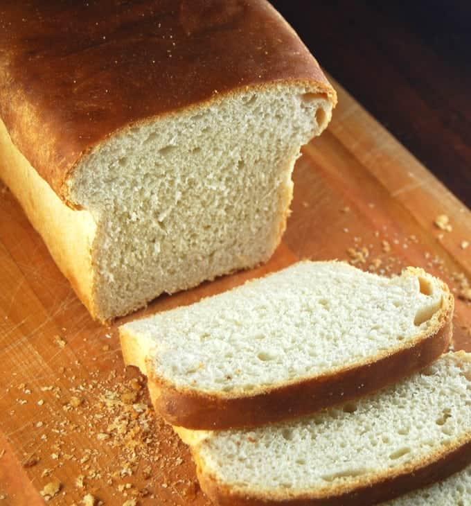 Homemade sourdough bread starter with potato flakes