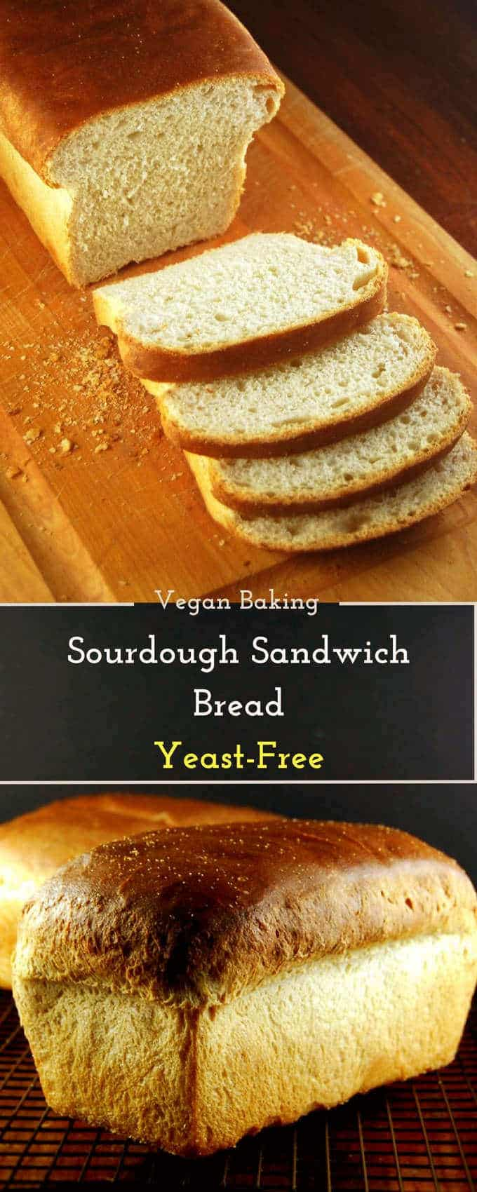Vegan Sourdough Sandwich Bread