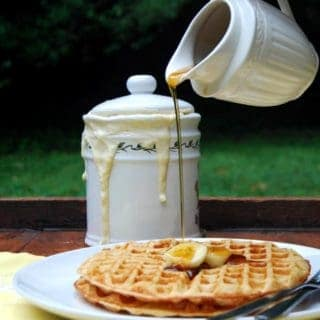 Vegan sourdough waffles, whole wheat