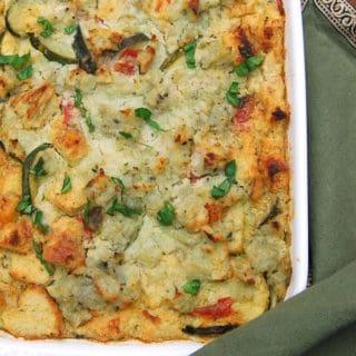 Vegan Breakfast Zucchini Strata