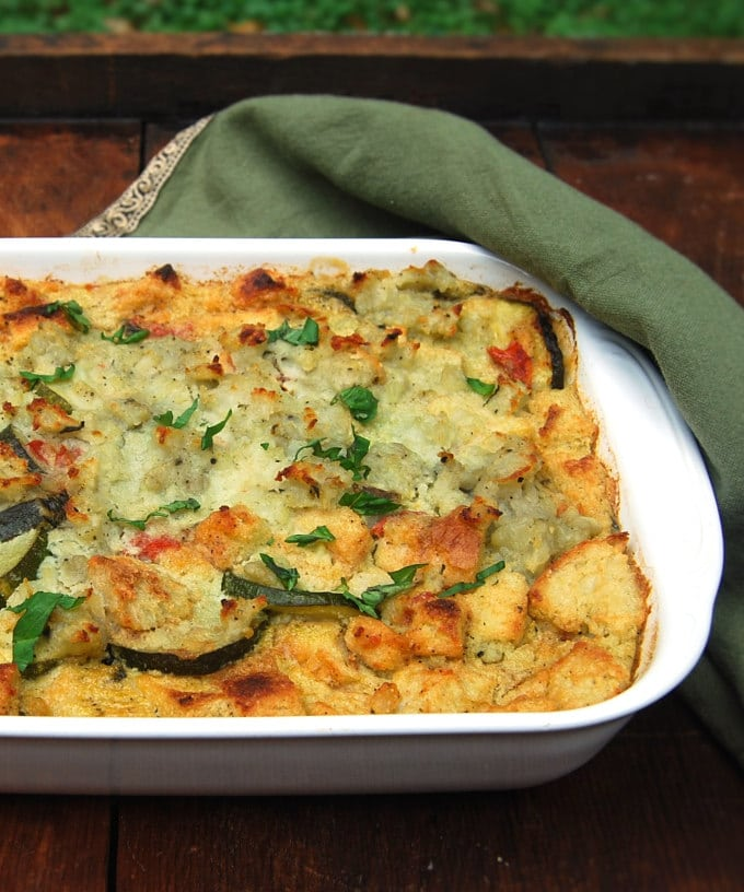 Vegan Zucchini Breakfast Strata • Holy Cow! Vegan Recipes