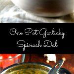 Garlicky Spinach Dal - holycowvegan.net