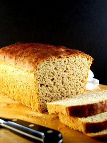 All Whole Wheat Sourdough Sandwich Bread