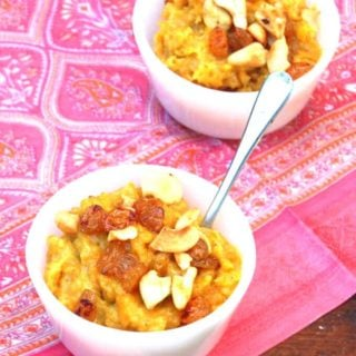 Vegan Butternut Squash Cashew Halwa for Diwali
