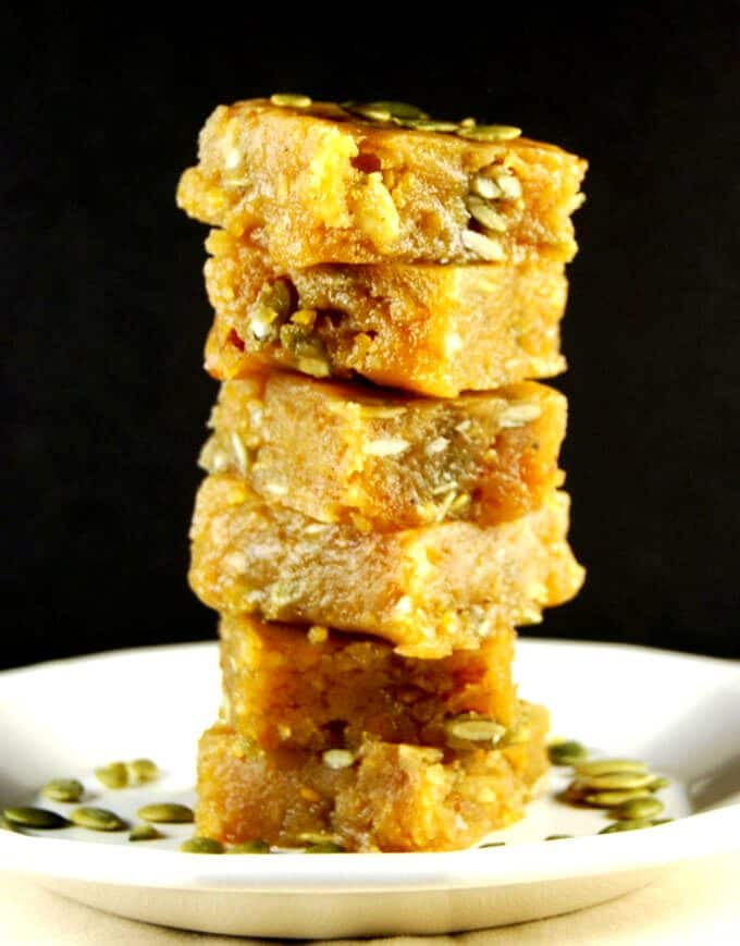 Vegan Chana Dal Burfi, a vegan Indian sweet -holycowvegan.net