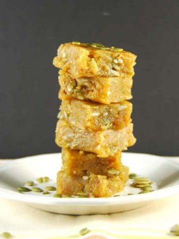 Vegan Chana Dal Burfi, a vegan Indian sweet