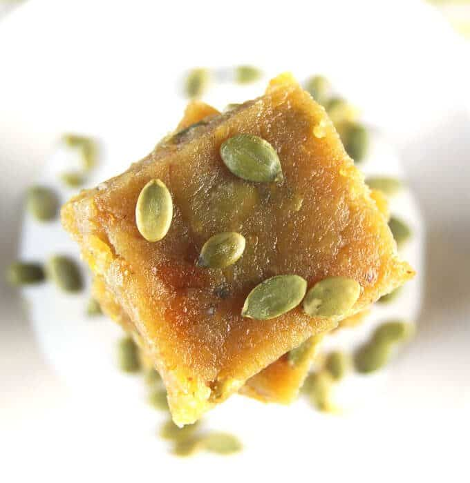 Vegan Chana Dal Burfi, a vegan Indian sweet
