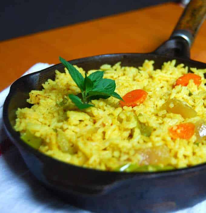 indian-style veg-fried rice