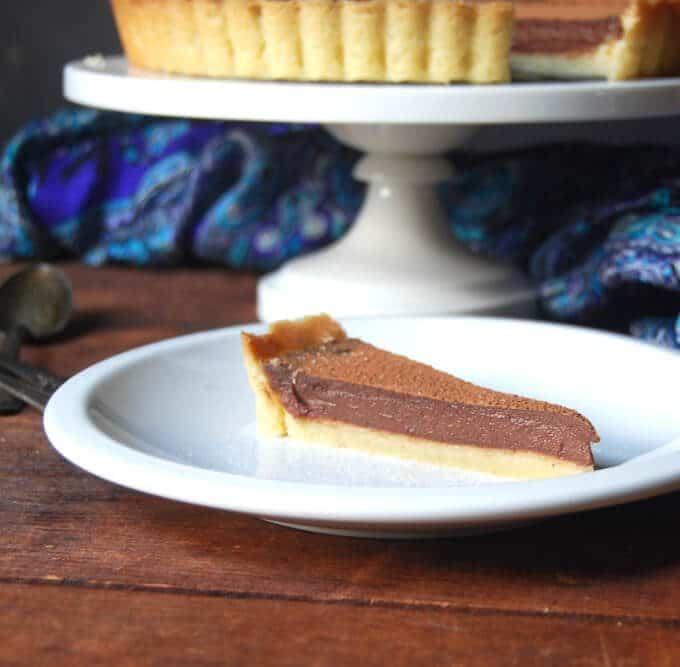 Vegan Salted Chocolate Hazelnut Tart