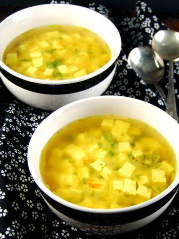 Detox Turmeric Ginger Miso Soup - holycowvegan.net