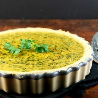 Soy Free Chickpea Spinach Quiche - holycowvegan.net