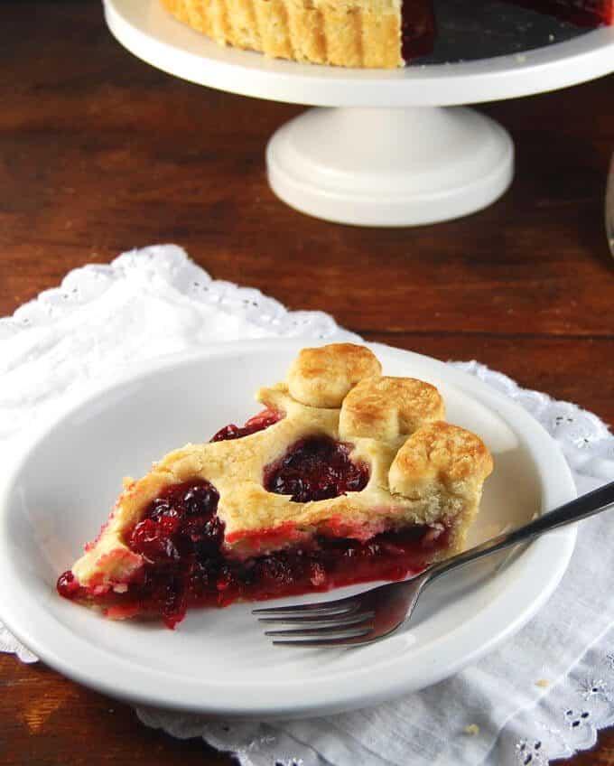 Vegan Cranberry Tart - holycowvegan.net