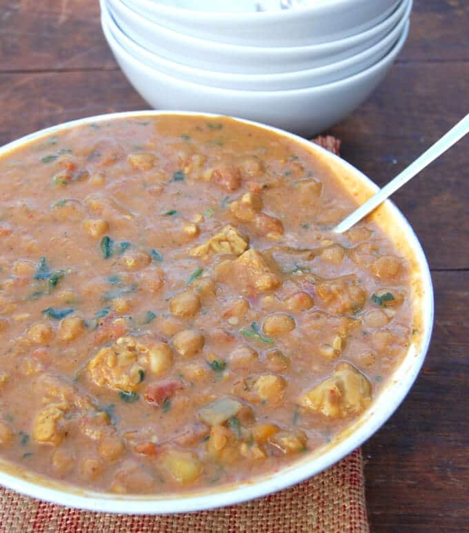 , savory, absolutely delicious Tempeh Butternut Squash Chickpea Stew ...
