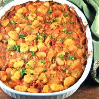 Greek style baked lima beans