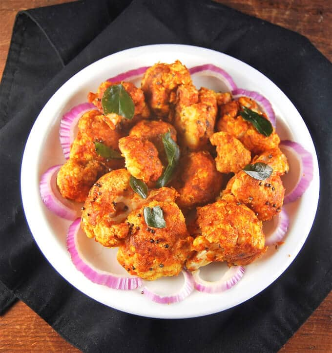 Cauliflower Bezule, roasted and stir-fried spicy cauliflower - holycowvegan.net
