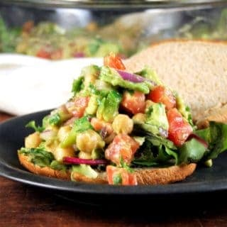 Vegan chickpea avocado salad for wraps and sandwiches - holycowvegan.net