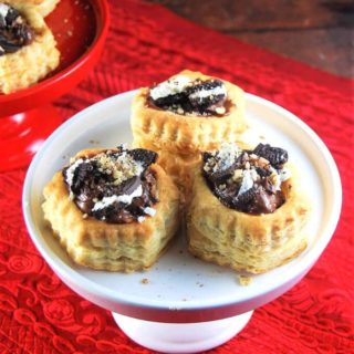 Vegan Chocolate Mousse Oreo Stuffed Puff Pastry Shells
