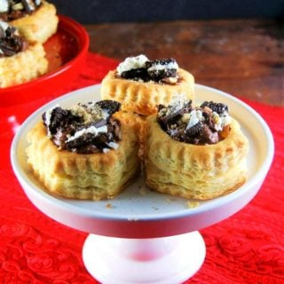 Chocolate Mousse and Oreo Stuffed Puff Pastry Shells