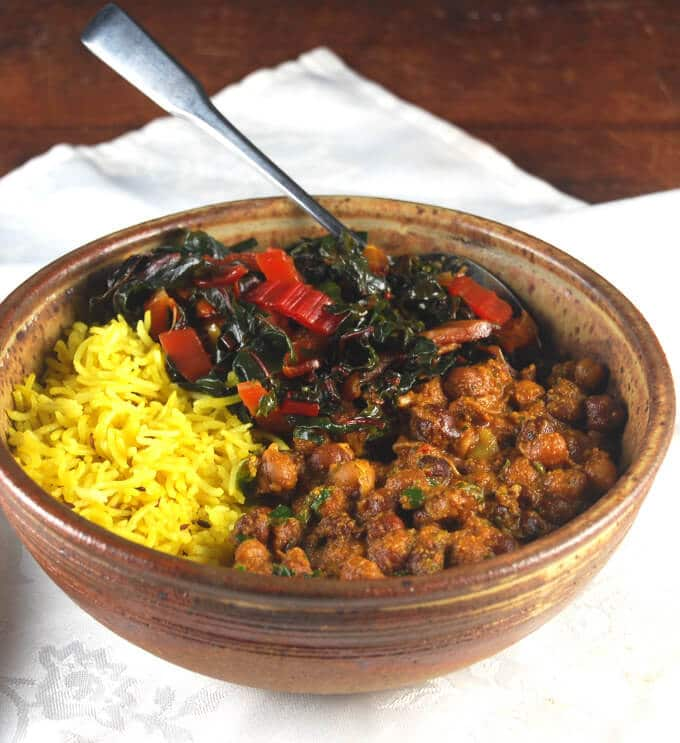... chickpeas bowl with turmeric rice and garlicky chard a delicious and