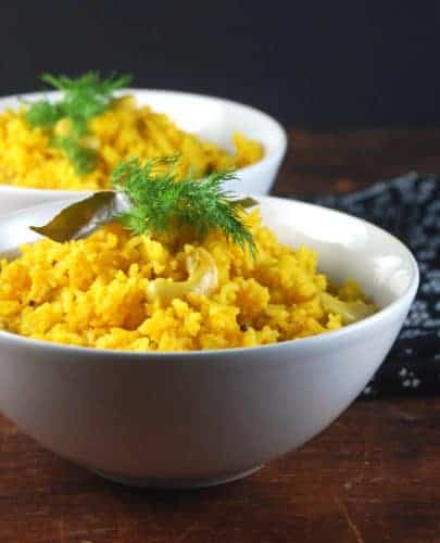 Easy Savory Mango Pilaf with Cashews