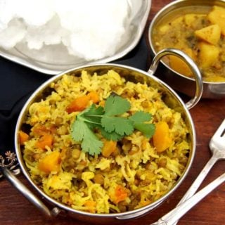 Easy Mung Sprouts Khichdi with Butternut Squash