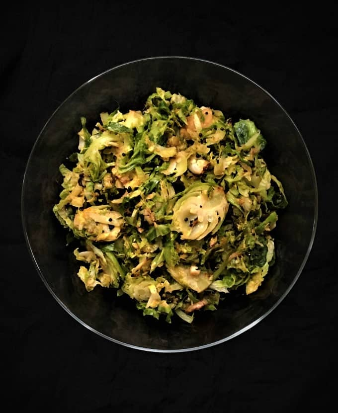 15-minute Shredded, Stir-fried Brussels Sprouts