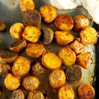 Crunchy Chickpea Roasted Potatoes, No Fat