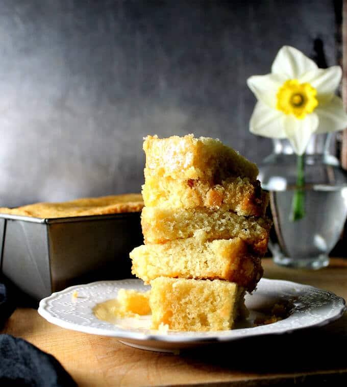 Vegan lemon olive oil pound cake