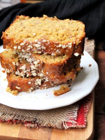 Orange almond breakfast loaf, whole wheat and vegan