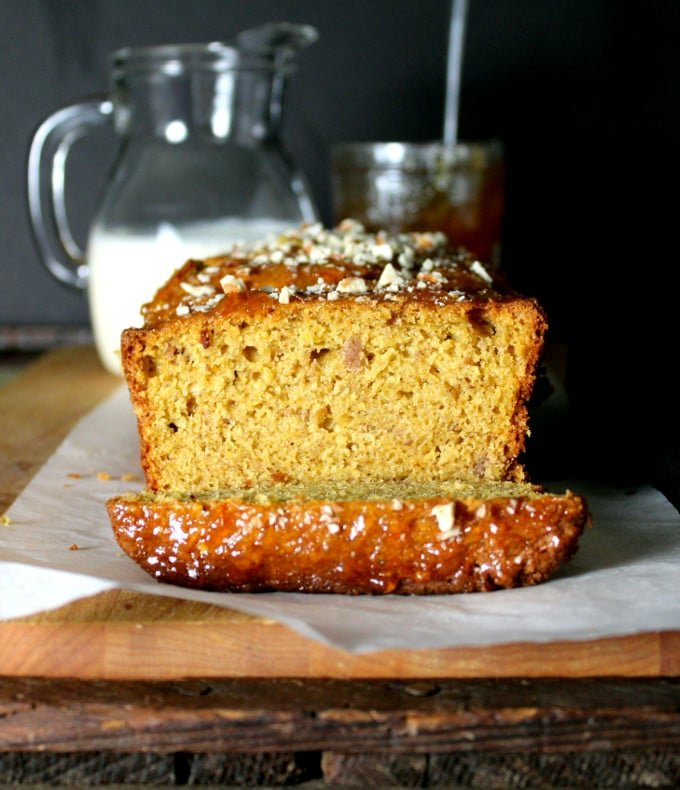 Orange almond breakfast loaf, whole wheat and vegan