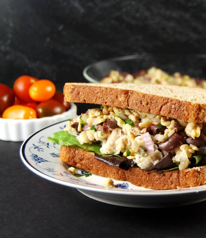 Tuscan Bean and Tempeh Sandwich