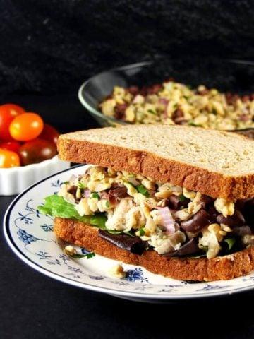 Tuscan Bean and Tempeh Sandwich