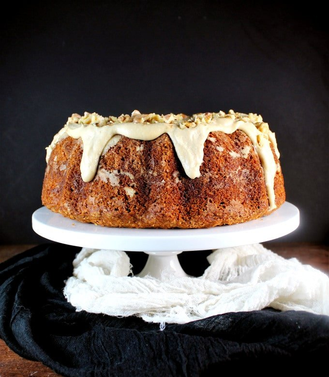 Vegan Carrot Bundt Cake with Cashew Cream Cheese Frosting