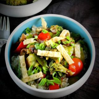 Rainbow Veggie Stir-Fry with Brown Rice
