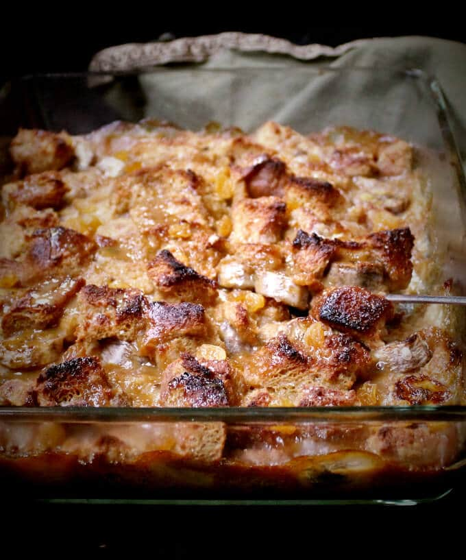 Vegan Bananas Foster Bread Pudding