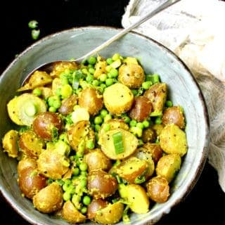 Indian Style Potato Salad with Turmeric and Green Peas