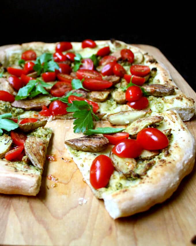 Crispy, crunchy pizza crust