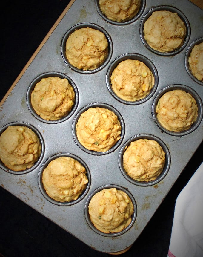 Savory Cornmeal Muffins with Fresh Corn