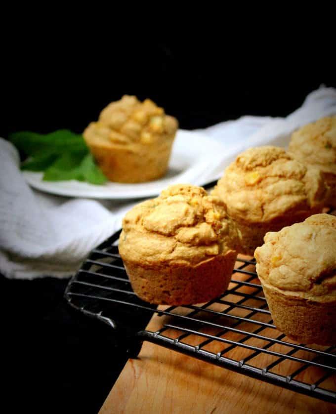 Savory Cornmeal Muffins with Fresh Corn