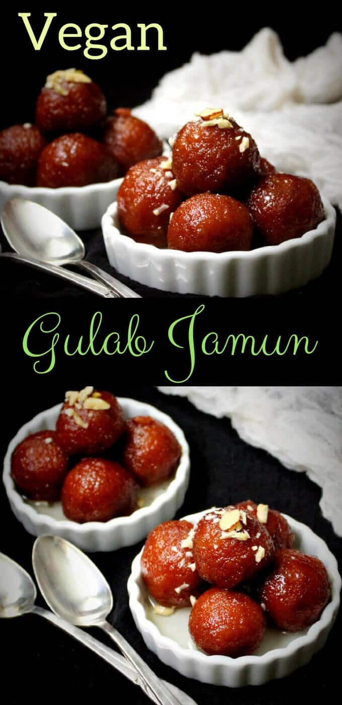 Vegan Gulab Jamun is an Indian dessert to die for. These gulab jamuns are made with bread and cashew cream. Holycowvegan.net
