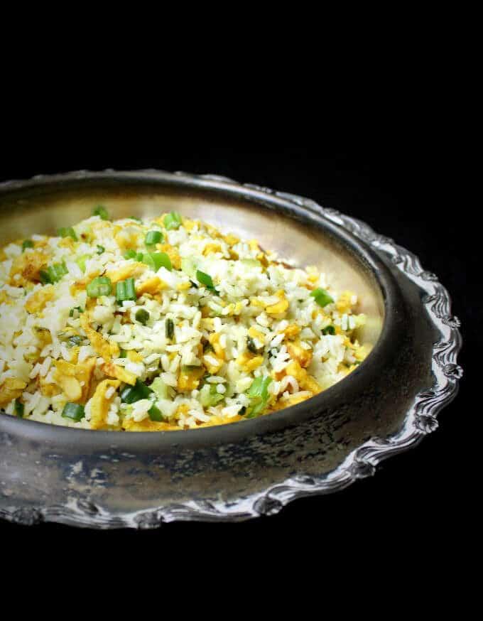 Vegan Egg Fried Rice - HolyCowVegan.net