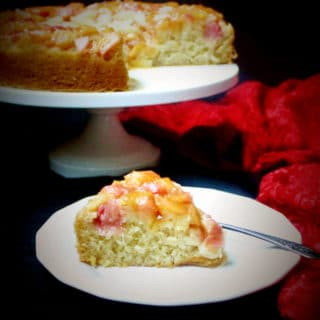 Vegan Rhubarb Ginger Upside-Down Cake